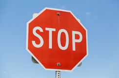 Stop Road Sign Royalty Free Stock Images