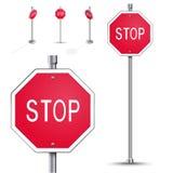 Stop road sign Stock Photos