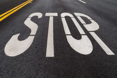 The stop road sign. Stock Image