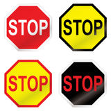 Stop road sign variation Stock Photos