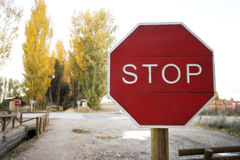 Stop Road Signa Stock Images