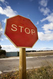 Stop Road Signal Stock Photography