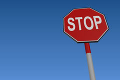 Stop Road Traffic Sign Royalty Free Stock Photos