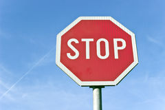 Stop road traffic sign Stock Photo