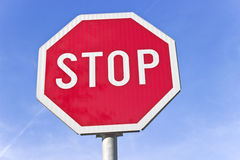 Stop road traffic sign Stock Photography