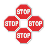 Stop roadsign concept on white background for easy selection Stock Photo