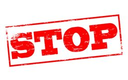 Stop. Rubber stamps with word stop inside,  illustration Royalty Free Stock Photography