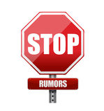Stop rumors road sign illustration design Royalty Free Stock Photography