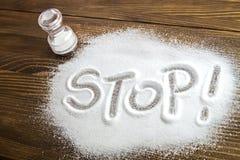 Stop salt – medical concept stock images
