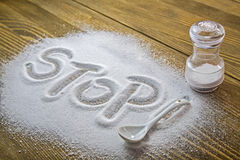 Stop salt � medical concept Royalty Free Stock Images