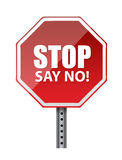 Stop, say no. illustration design Stock Image