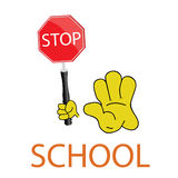 Stop school icon vector Royalty Free Stock Images