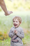 Stop screaming toddler Royalty Free Stock Photos