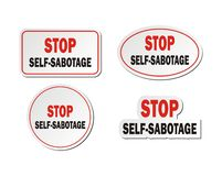 Stop self-sabotage - sticker sets Royalty Free Stock Images