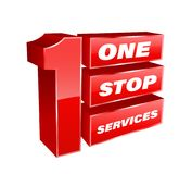 1 Stop services banner. Vector illustration for business Royalty Free Illustration
