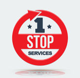 1 stop services icon. Vector illustration Stock Photos