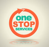 1 stop services icon. Vector illustration Royalty Free Stock Photography