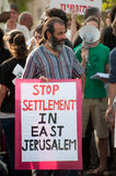 Stop Settlement in East Jerusalem Royalty Free Stock Photography