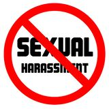 Stop sexual harassment forbidden sign negative space vector illustration vector illustration