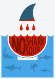 Stop shark finning.Vector illustration Royalty Free Stock Images