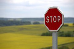 Stop, Shield, Traffic Sign Royalty Free Stock Photos