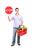 Stop and shop here Royalty Free Stock Photo