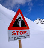 Stop siganage in Alps Royalty Free Stock Image