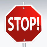 Stop Sign. Vector illustration of a stop sign Royalty Free Stock Images
