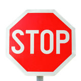 Stop Sign. Isolated on white background Royalty Free Stock Images