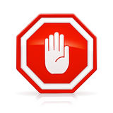 Stop Sign royalty free illustration
