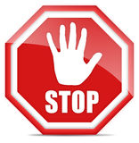 Stop sign. Isolated over white Royalty Free Stock Image