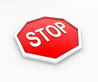 Stop Sign. 3D render of a stop sign Stock Photography