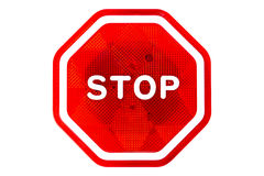 Stop sign. Plastic stop sign isolated on white background Stock Image