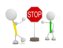 Stop sign. 3d render illustration.Stop sign Royalty Free Stock Images