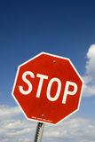 Stop Sign. At Road Junction Royalty Free Stock Images