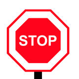 Stop sign. Stop red singe isolated in white background Stock Photo