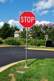 Stop sign. At a Condominium Parking Lot Area royalty free illustration