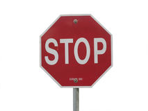 Stop Sign. Red  stop sign that is Isolated Royalty Free Stock Image