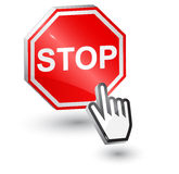 Stop sign, 3d. Stock Photos