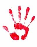 Stop  Sign. Red Handprint Stock Photos