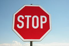 Stop sign. A stop sign on a bright day Royalty Free Stock Image