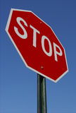 Stop Sign. With Blue Sky Background Stock Photography