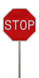 Stop sign. 3d rendering of a stop sign Stock Photo