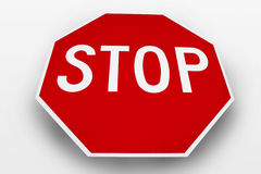 Stop Sign. On a white background royalty free stock photography