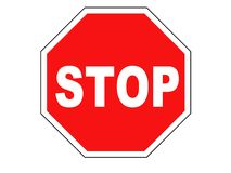 Stop sign. Isolated on pure white Stock Images
