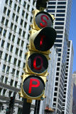 Stop Sign. In central Chicago Stock Images