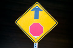 Stop Sign Ahead Sign Stock Images