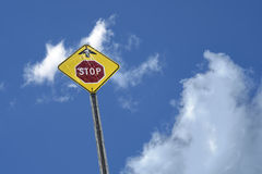 Stop sign ahead Royalty Free Stock Images