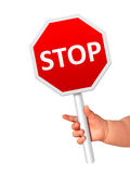 Stop sign. Royalty Free Stock Images
