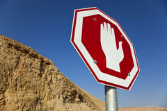 Stop Sign in the Desert Royalty Free Stock Image